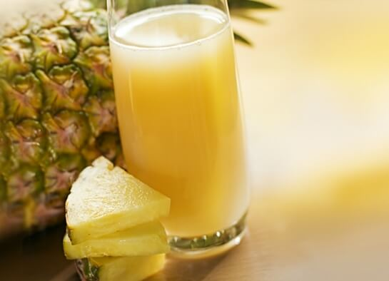 Полезный состав сока ананаса